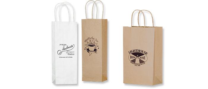 Short Run Wine Bottle Bags