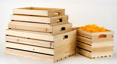 Nested Wooden Crates