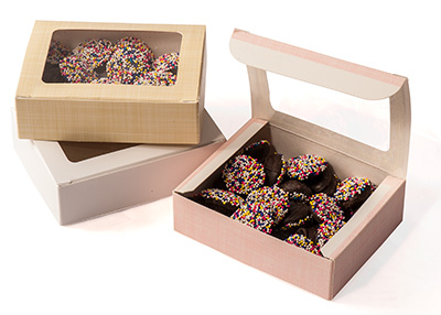 Small 1/4lb Folding Window Candy Boxes