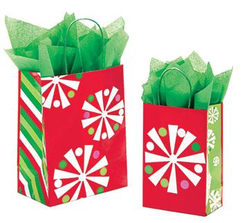 Snowflake Bling Paper Shopping Bags