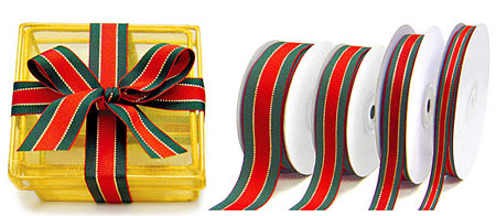 Christmas Stripe Ribbon