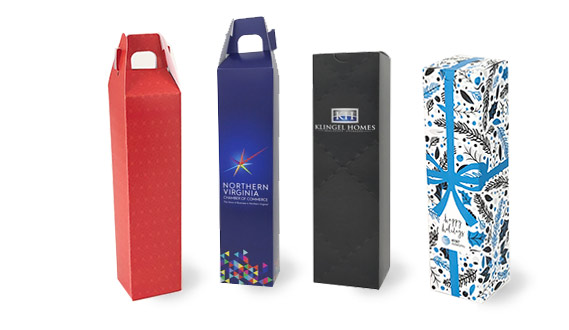 Full Color Bleed Folding Wine Boxes