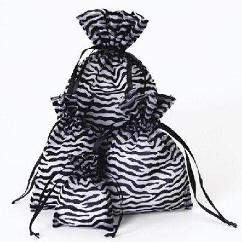 Zebra Designed Organza Pouches