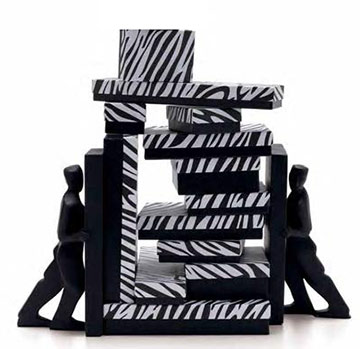 Zebra Print 2 Piece Set-Up Fiber Filled Jewelry Box